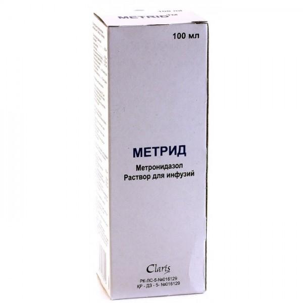 Метрид 0,5% 100 мл. р-р д/инф.фл._А
