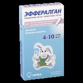 Эффералган 300 мг №10 супп рект с 4 до 10 лет_А