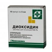 Диоксидин 10 мг/мл 5 мл №10 р-р д наруж прим_А