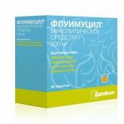 Флуимуцил 200 мг. №20 гран.р-р д.приема внутрь_А