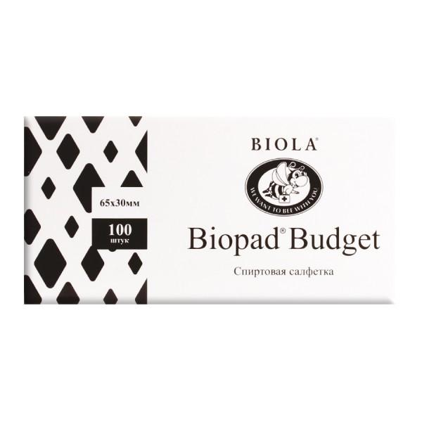 Салфетки Biopad Budget спиртовые №1. 65х60мм_А